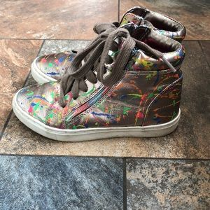 Girls Steve Madden hightop sneakers